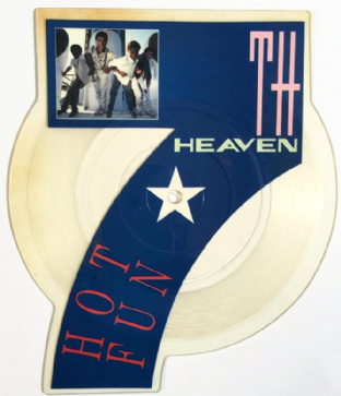 "7th Heaven - Hot Fun (7"") (Shaped Picture Disc) (VG/NM)"